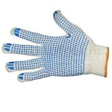 Перчатки хб 4 нити 10 класс с ПВХ