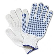 Перчатки хб 5 нитей 10 класс с ПВХ