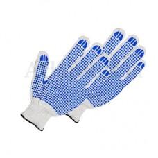 Перчатки хб 6 нитей 10 класс с ПВХ